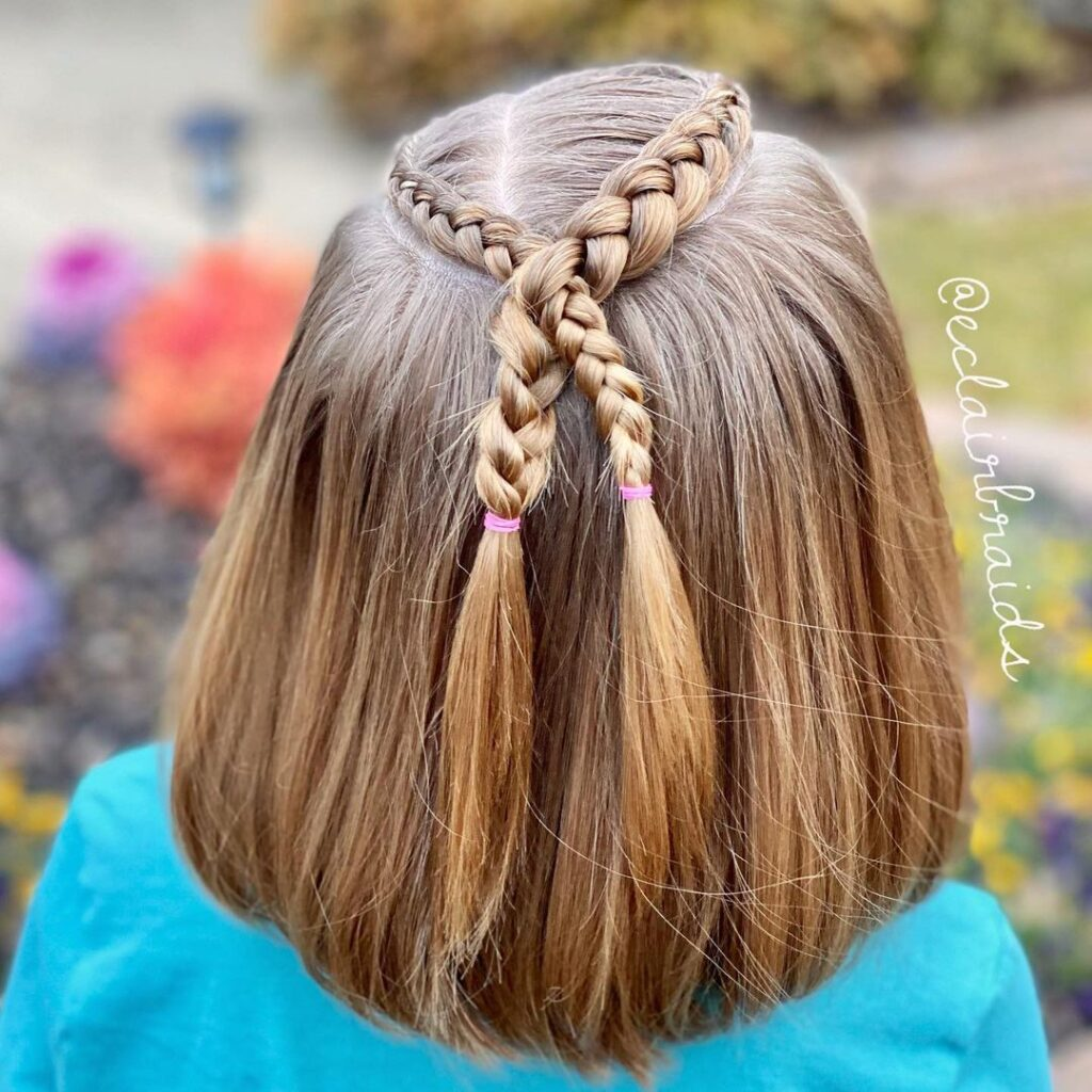 Curved and crossed lace braids