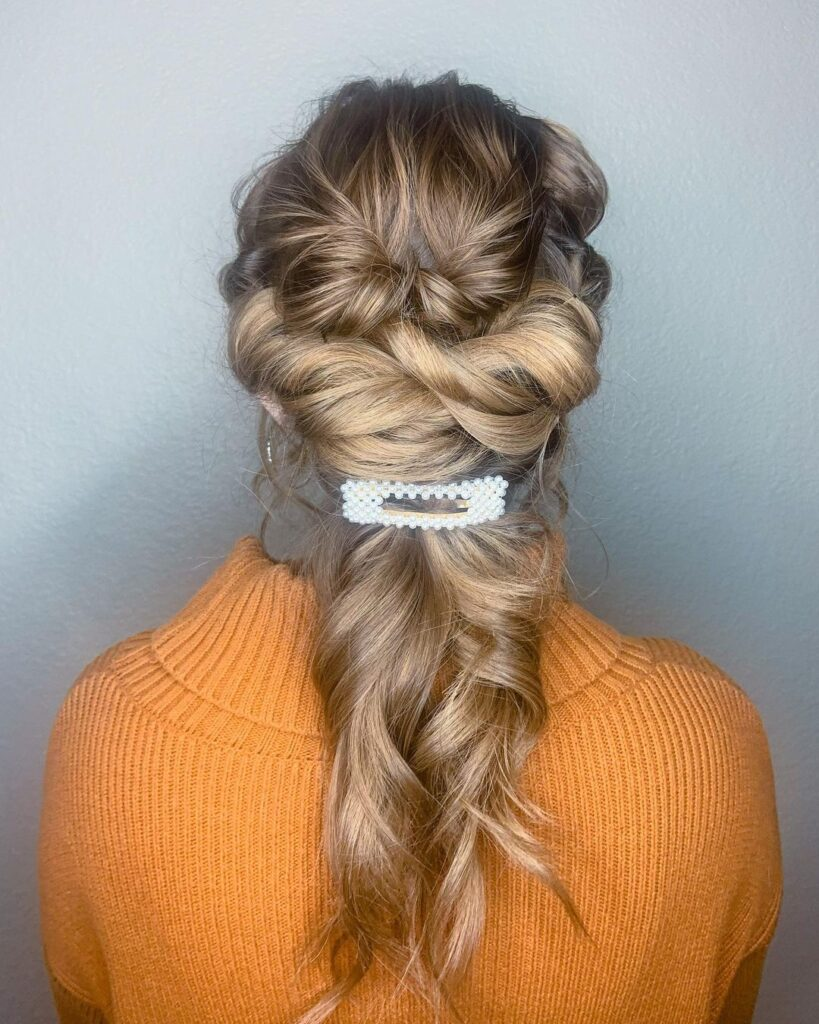 Pull through braids and ponytails